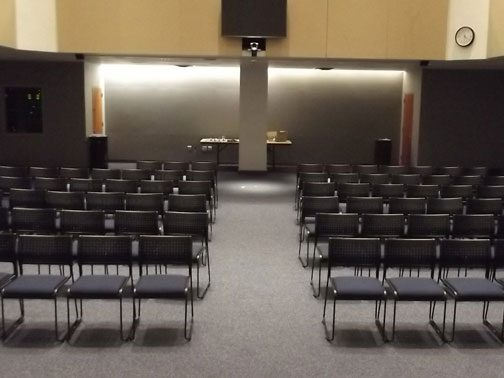Gen Re Auditorium Room 109 (A-1) (front view)